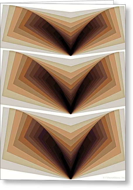 Composition 134 Greeting Card by Terry Reynoldson