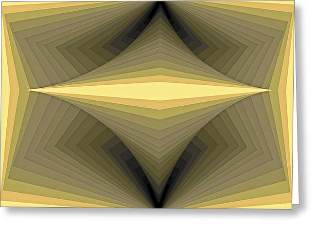 Composition 147 Greeting Card by Terry Reynoldson