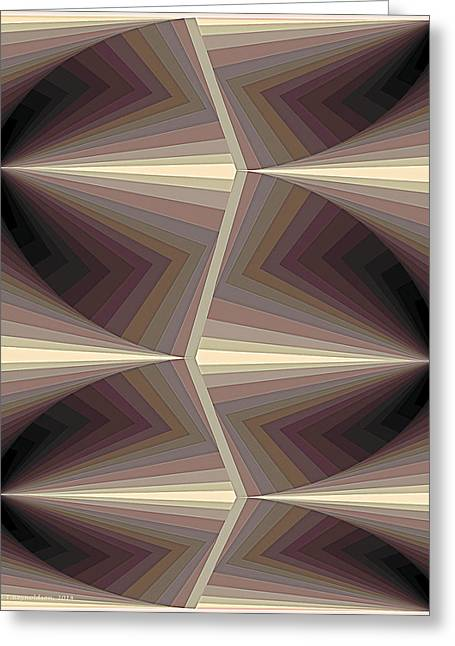Composition 161 Greeting Card by Terry Reynoldson
