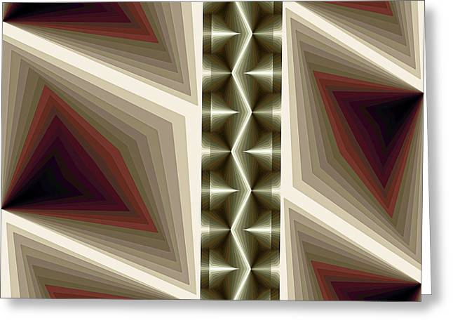 Composition 235 Greeting Card by Terry Reynoldson