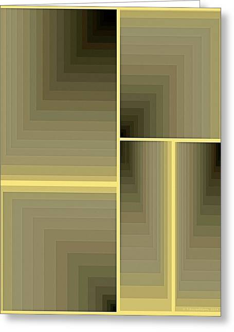 Composition 64 Greeting Card by Terry Reynoldson