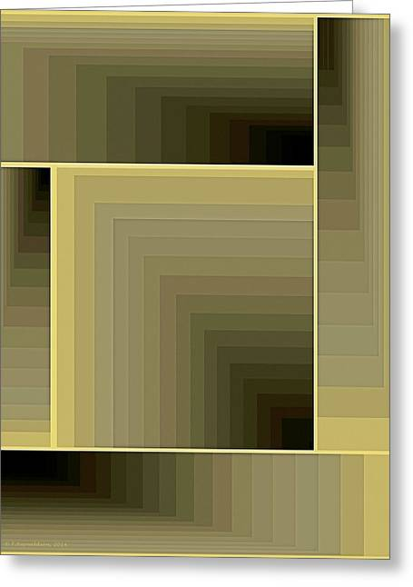 Composition 71 Greeting Card by Terry Reynoldson