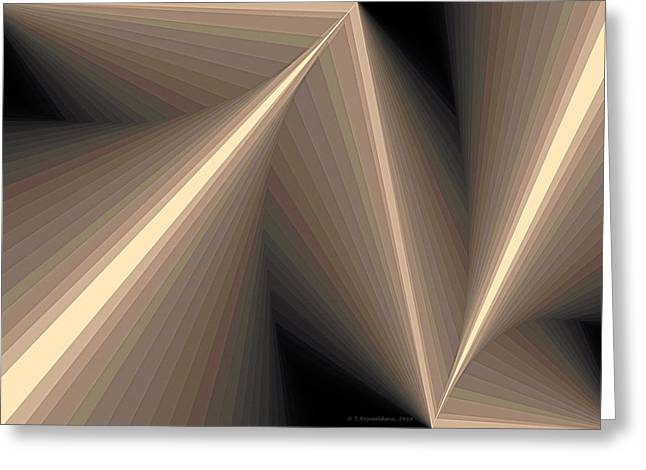 Composition 93 Greeting Card by Terry Reynoldson