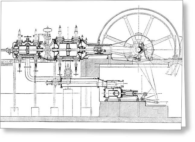 Compound-tandem Engine Greeting Card by Science Photo Library