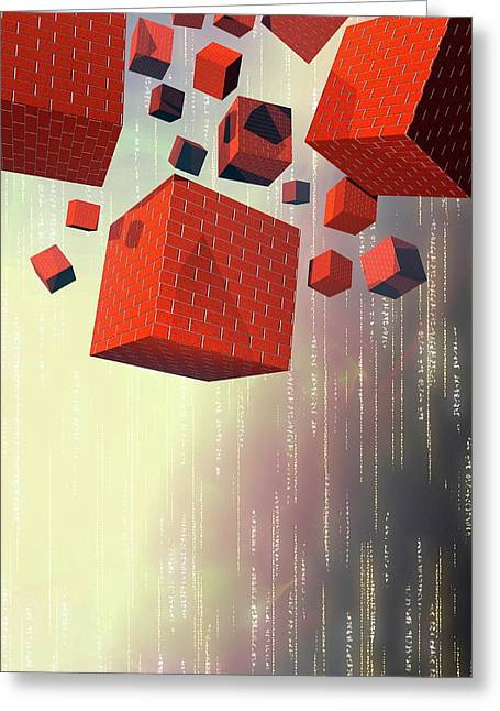 Computer Firewalls Greeting Card by Victor Habbick Visions