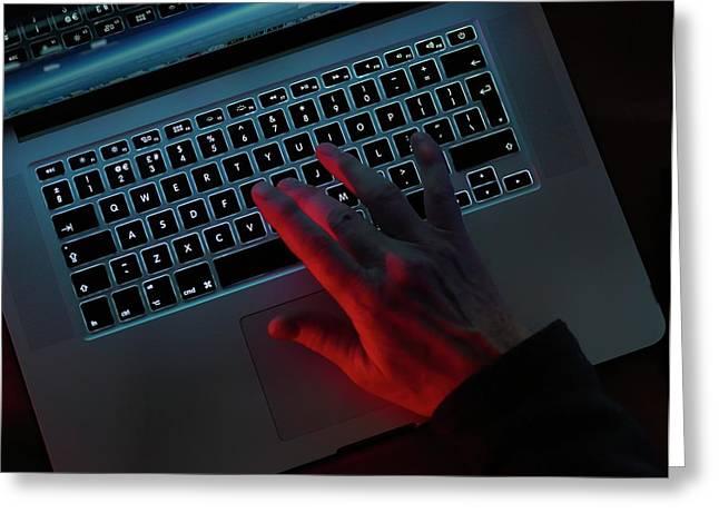 Computer Fraud Greeting Card by Tek Image