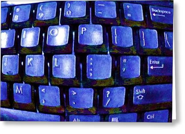 Computer Keyboard  Greeting Card by Dan Twyman