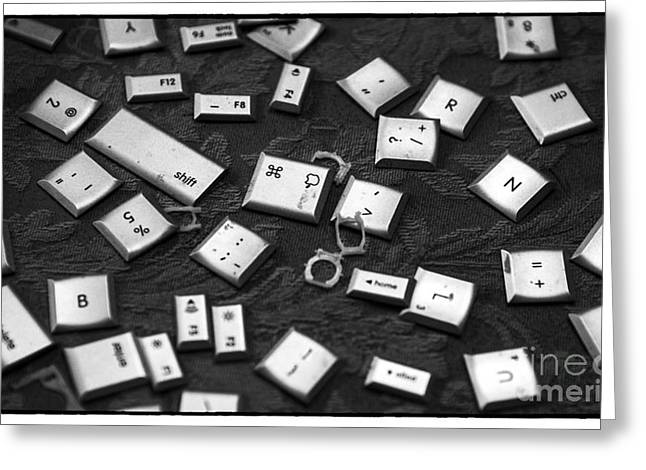 Computer Keys Greeting Card by Iris Richardson