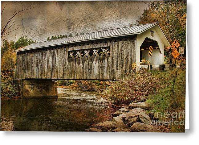 Comstock Bridge 2012 Greeting Card by Deborah Benoit
