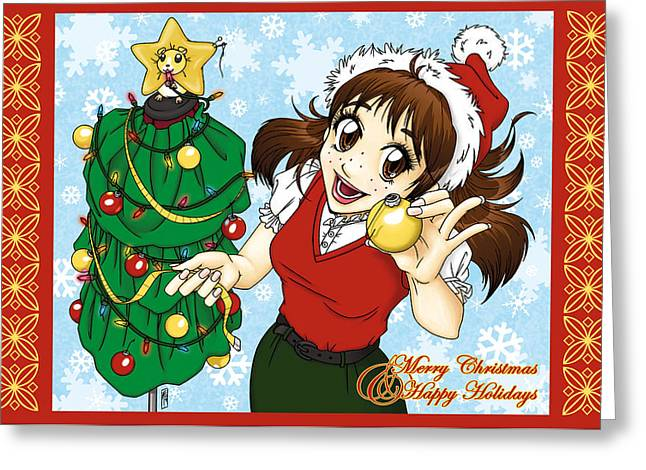 Con Season Lexi Christmas Tree Greeting Card by Con Season