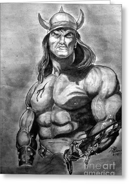 Conan The Barbarian Greeting Card by Bill Richards