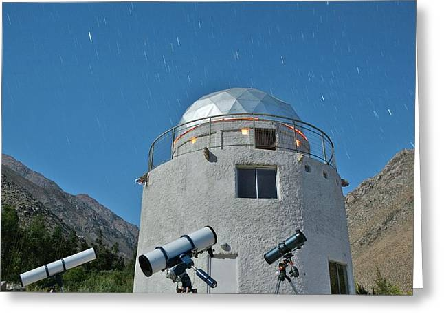 Concana Observatory In The Elqui Valley Greeting Card by Dorling Kindersley/uig