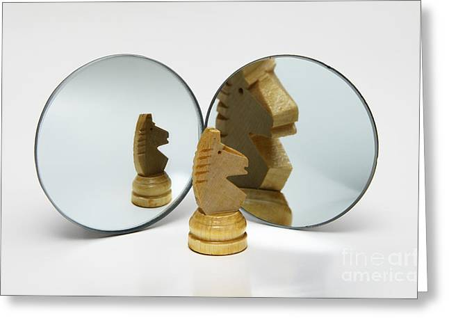 Concave And Convex Mirrors, 4 Of 4 Greeting Card by GIPhotoStock