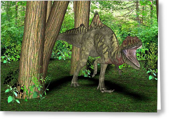 Concavenator Dinosaur Greeting Card