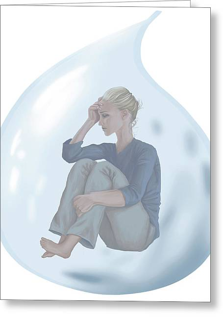 Conceptual Illustration Of Loneliness Greeting Card