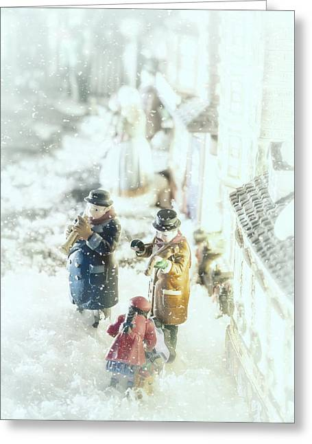 Concert In The Snow Greeting Card by Caitlyn  Grasso
