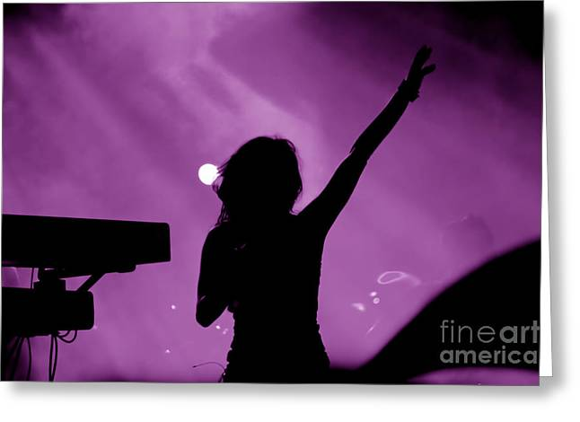 Concert Greeting Card by Michal Bednarek