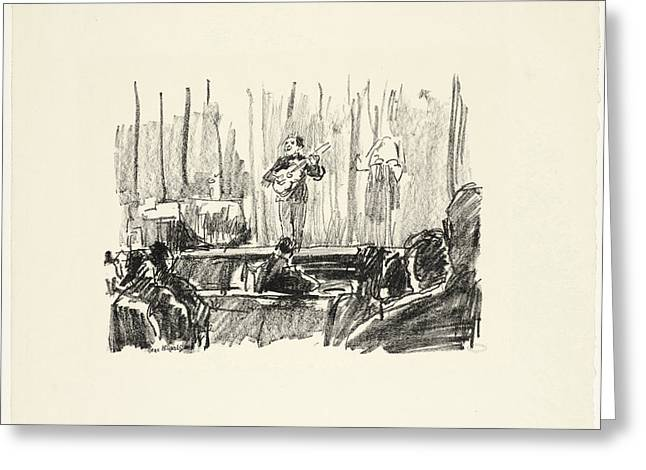 Concert With Guitar Player, Isaac Israels Greeting Card