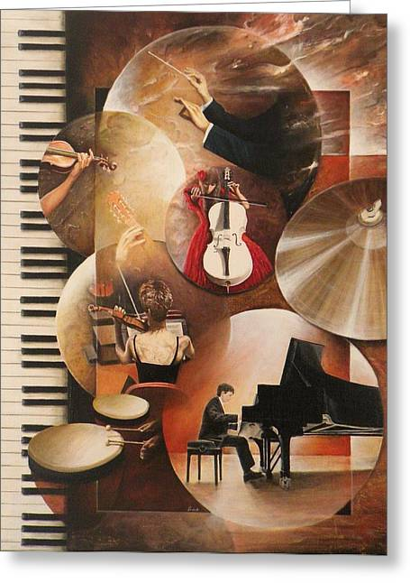 Concerto Pour Piano Greeting Card by Frank Godille