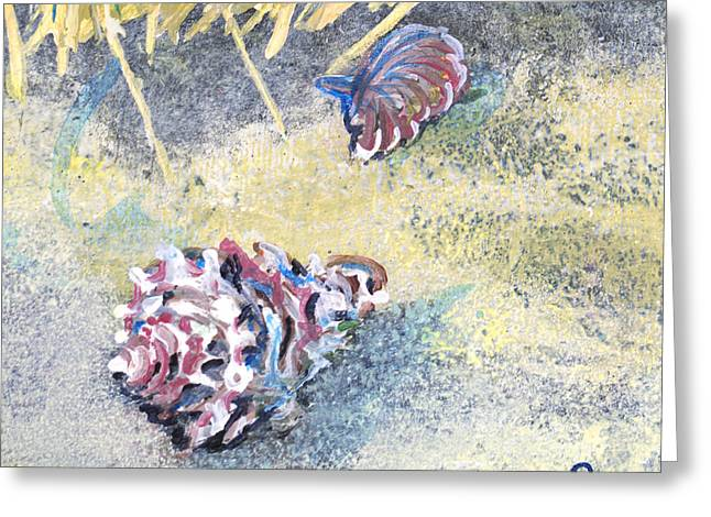 Conch At Night Greeting Card by Troy Schroeder