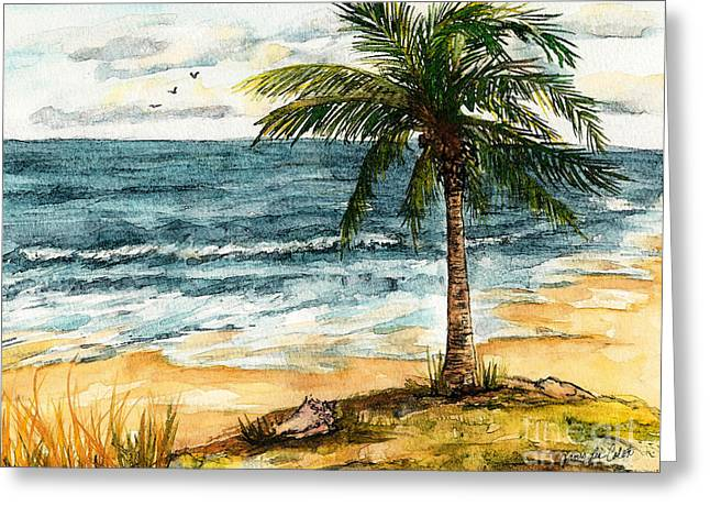 Conch Shell In The Shade Greeting Card