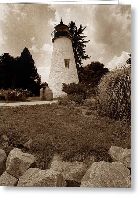 Concord Point Lighthouse Greeting Card by Skip Willits