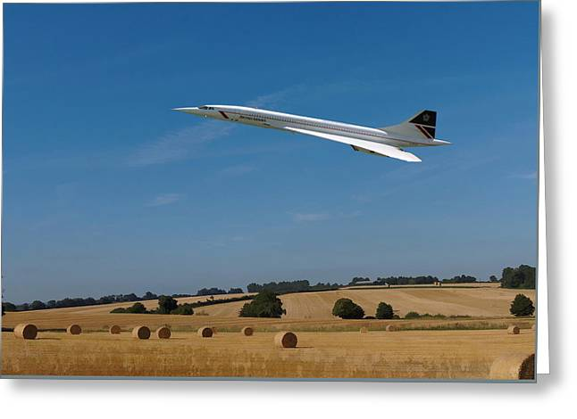 Concorde At Harvest Time Greeting Card