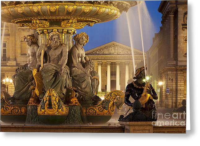 Concorde Fountain Greeting Card by Brian Jannsen