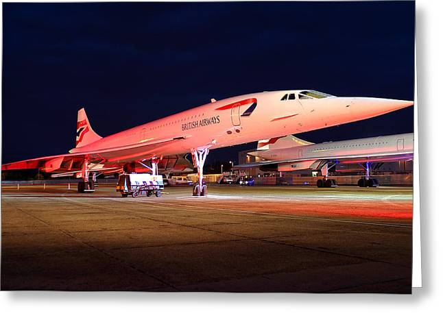 Concorde On Stand Greeting Card