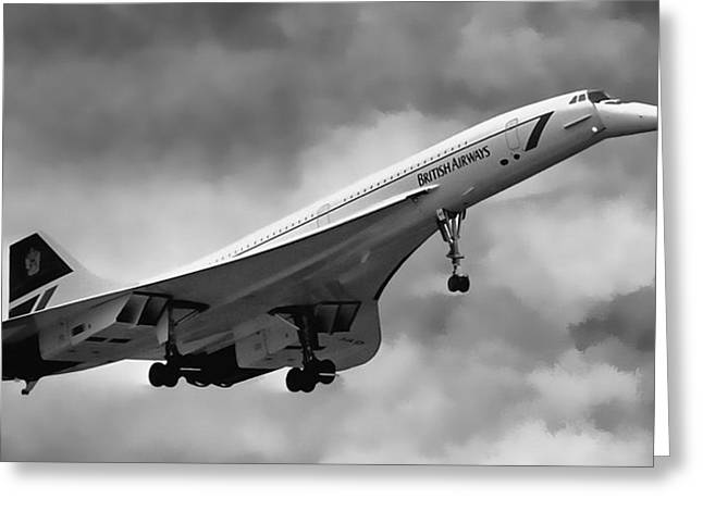Concorde Supersonic Transport S S T Greeting Card