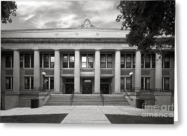 Concordia University Chicago Addison Hall Greeting Card by University Icons