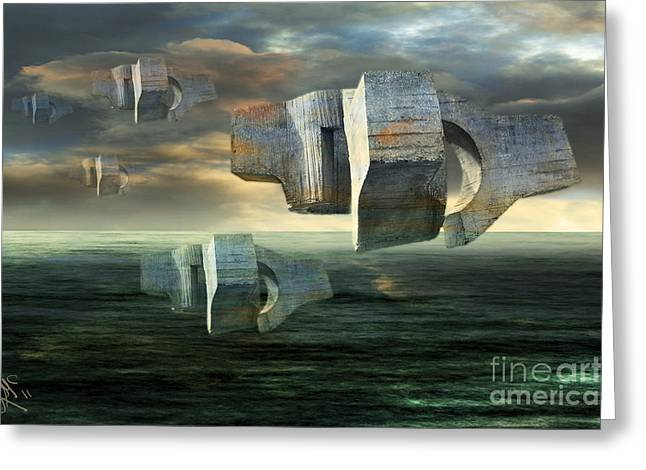 Concrete Clouds Chillida Greeting Card by Rosa Cobos