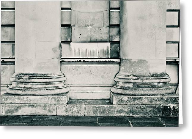 Concrete Pillars Greeting Card by Tom Gowanlock