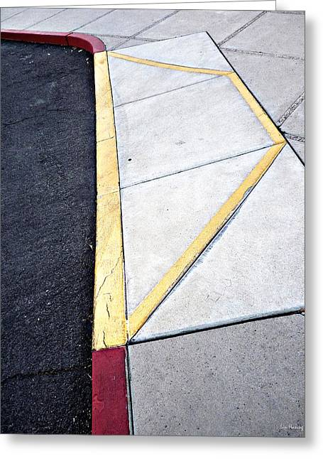 Concrete Quilt Greeting Card by Lin Haring