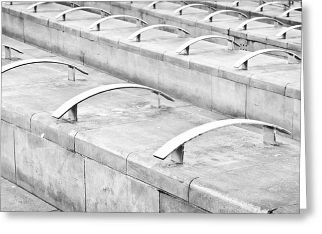 Concrete Seating Greeting Card by Tom Gowanlock