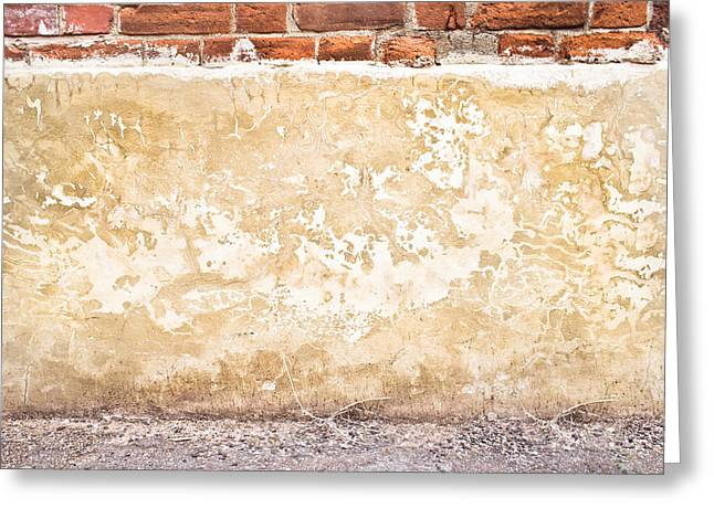 Concrete Wall Greeting Card by Tom Gowanlock