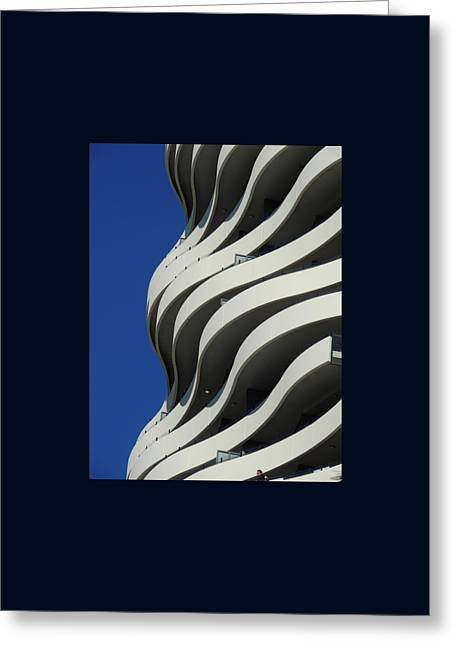 Concrete Waves Greeting Card