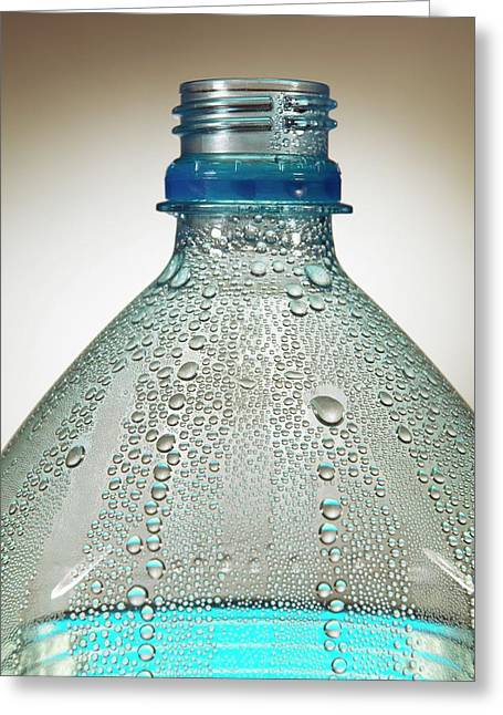 Condensation On Water Bottle Greeting Card