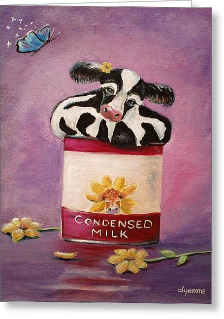 Condensed Milk Greeting Card by Dyanne Parker