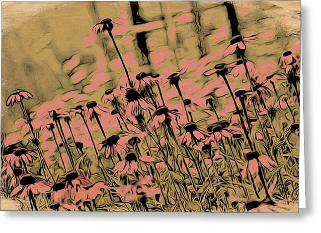 Coneflowers Greeting Card by Bonnie Bruno
