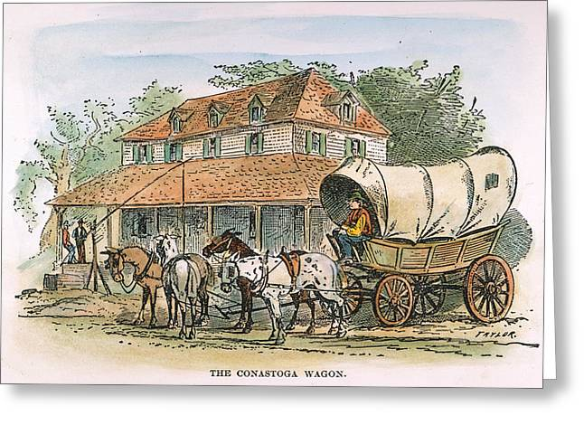 Conestoga Wagon, 19th C Greeting Card by Granger