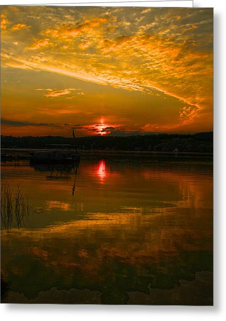 Conesus Sunrise Greeting Card by Richard Engelbrecht