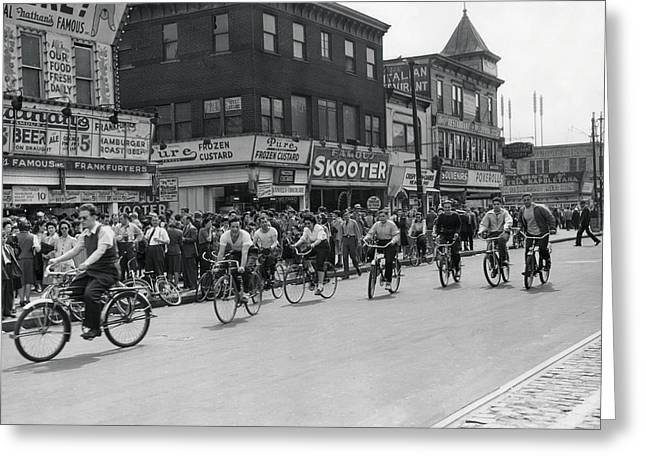 Coney Island - Bicycles Greeting Card by MMG Archives
