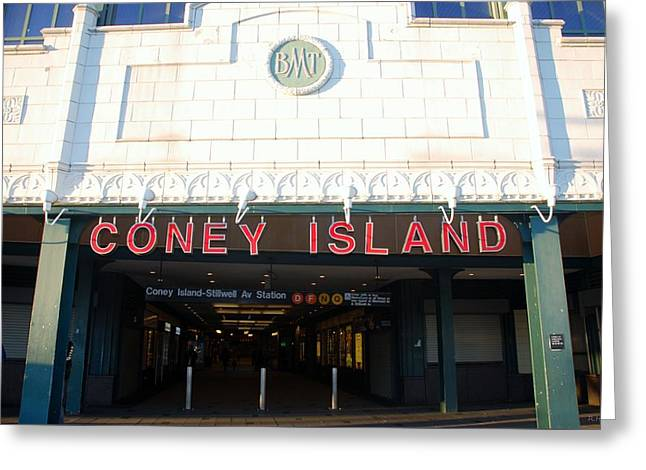 Coney Island Bmt Subway Station Greeting Card by Rob Hans
