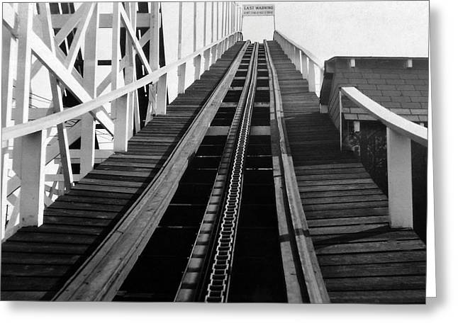 Coney Island - Roller Coaster Tracks Greeting Card by MMG Archives
