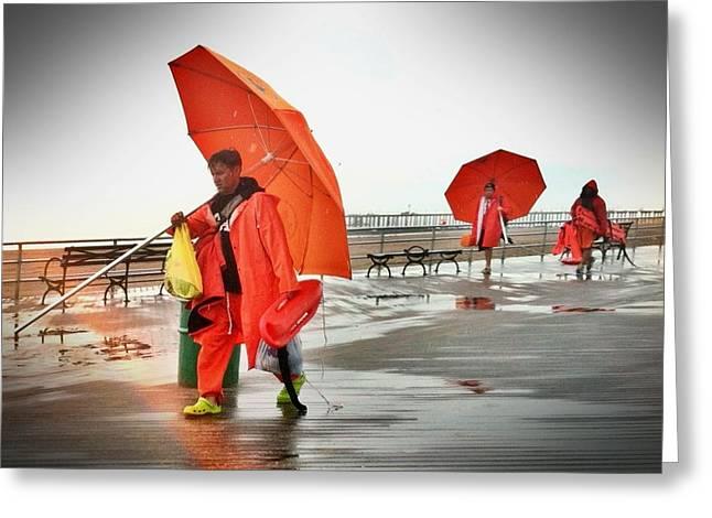 Coney Island Umbrella 2 Greeting Card