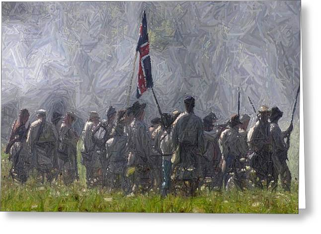 Confederate Advance To Webster's Hill - Perryville Ky Greeting Card
