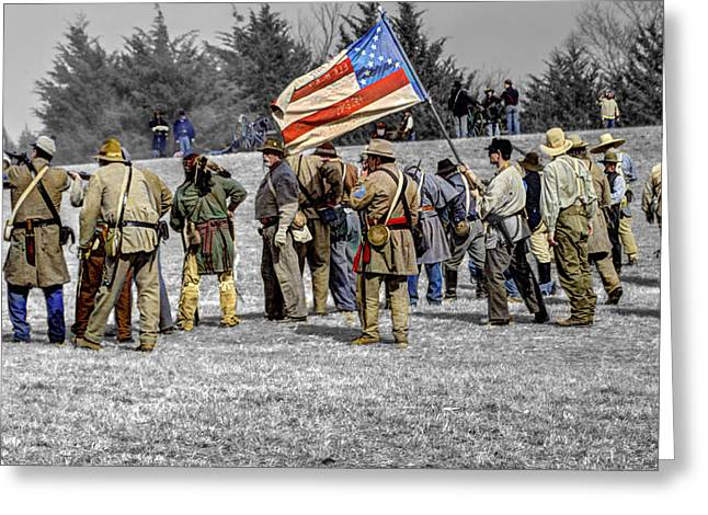 Confederate Battle Line Greeting Card by John Straton