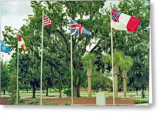 Confederate - Flags Of My Ancestors Greeting Card by Wayne Nielsen