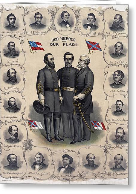 Confederate Leaders, C1896 Greeting Card